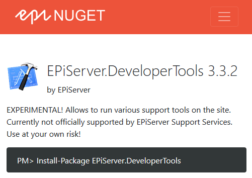 How Risky are EPiServer.DeveloperTools on Production Environment?